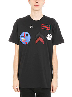 Givenchy-T-Shirt over Patches in cotone nero