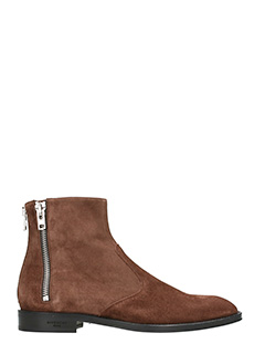 Givenchy-Suede dark brown boots