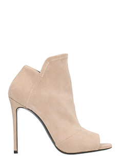 Grey Mer-Nude suede Ankle boots