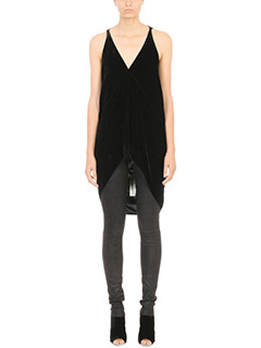 Rick Owens-Glitter Simple Tank Top
