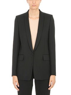 Maison Margiela-Black fitted blazer
