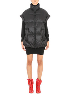 Maison Margiela-Piumino in nylon nero