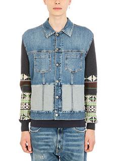 Maison Margiela-Navajo slim blue denim jacket