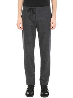 Maison Margiela-Tailored wool check grey pants