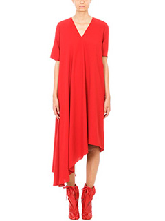 Maison Margiela-Draped asymmetric dress