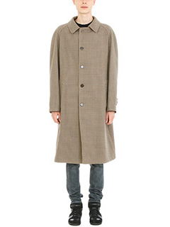 Maison Margiela-Cappotto Oversize Reversible in lana check