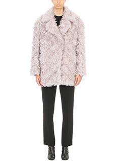 Maison Margiela-dusky pink mohair shagpile coat