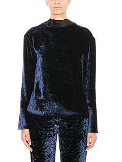 Maison Margiela-Open back velvet top