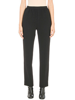 Maison Margiela-Black straight leg trousers