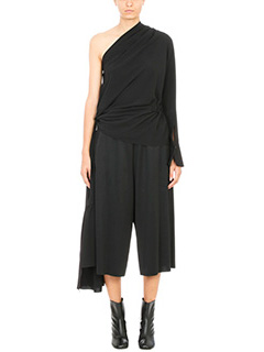 Maison Margiela-Asymmetric draped crepe top