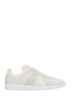 Maison Margiela-Replica sneakers grey leather and suede