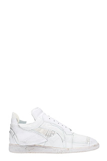 Maison Margiela-Patchwork white leather sneakers