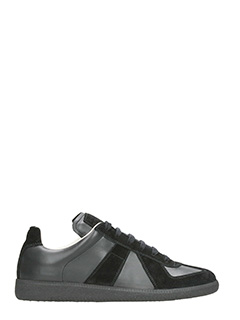 Maison Margiela-Replica black leather and suede