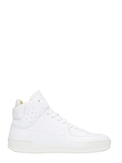 Maison Margiela-white hi-top leather sneakers
