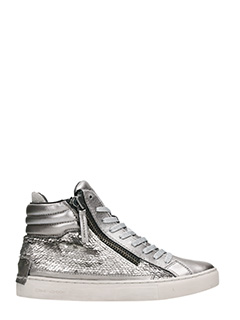 Crime-High silver sequins Sneakers