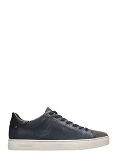 Crime-Sneakers Beat Low in pelle e suede blue