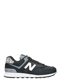 New Balance-574 black sneakers