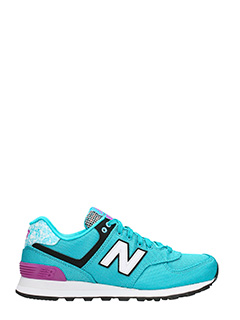 New Balance-Sneakers 574 in tessuto e suede verde