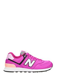 New Balance-574 fucsia sneakers