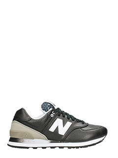 New Balance-Sneakers 574 in pelle nera