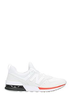 New Balance-Sneakers 574 AW in camoscio e tessuto grigio