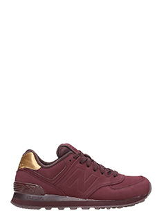 New Balance-Sneakers 574 Molten Metal in gomma bordeaux