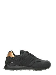 New Balance-Sneakers 574 Molten Metal in gomma nera