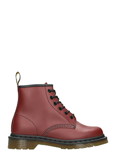 Dr. Martens-bordeaux leather boots