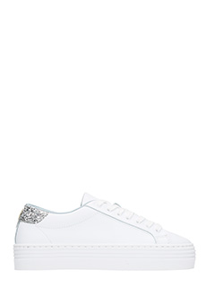 Chiara Ferragni-Roger Logomania white leather sneakers