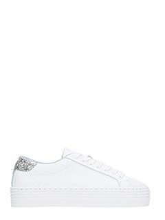 Chiara Ferragni-Sneakers Roger Logomania in pelle bianca