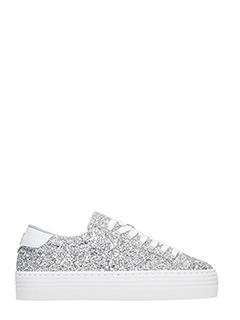 Chiara Ferragni-Silver Glitter Logomania sneakers