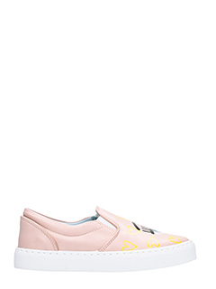 Chiara Ferragni-Sneakers Slip on Candy Flirting in pelle rosa