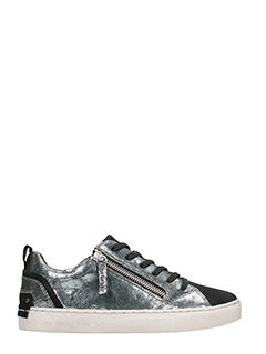 Crime-Low metal silver Sneakers