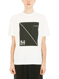 Alexander Wang-Box Print white cotton t-shirt