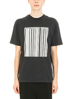 Alexander Wang-T-shirt Classic Vintage Barcode in cotone nero