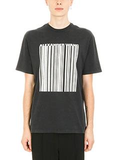 Alexander Wang-Classic Barcode vintage black cotton t-shirt
