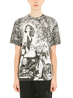 Alexander Wang-T-shirt Slow & Steady Patch in cotone bianco nero