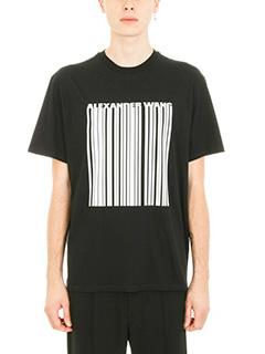 Alexander Wang-Classic barcode black cotton t-shirt