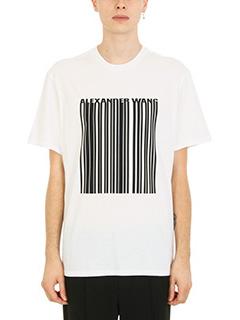Alexander Wang-Classic barcode white cotton t-shirt