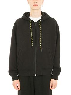 Alexander Wang-Dense Fleece Zip Up black hoodie