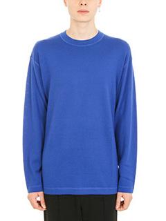 Alexander Wang-Crewneck blue wool pullover