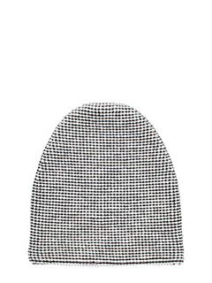 Alexander Wang-Cappello Thermal Beanie in lana bianca/nera.