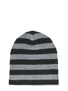 Alexander Wang-Cappello Striped Beanie in lana nera/grigia