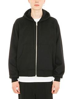 Alexander Wang-Splittable Brushed black wool sweatshirt