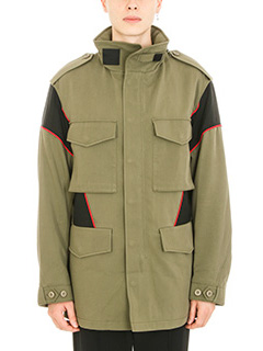 Alexander Wang-Hybrid Field cotton green jacket