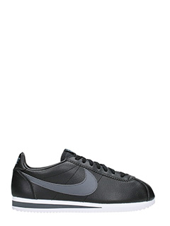 Nike-Sneakers Classic Cortez in pelle nera grigia