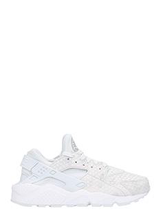 Nike-Sneakers Huarache in pelle e camoscio grigio