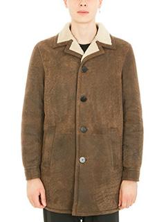 Neil Barrett-Shearling brown lambskin coat
