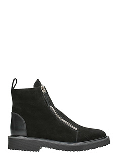 Giuseppe Zanotti-double zip boots in black suede