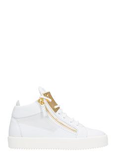 Giuseppe Zanotti-Sneakers Kriss Hi Top in pelle bianca